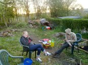 early days allotment lucy and ralph chilling back in like 2012 beginning