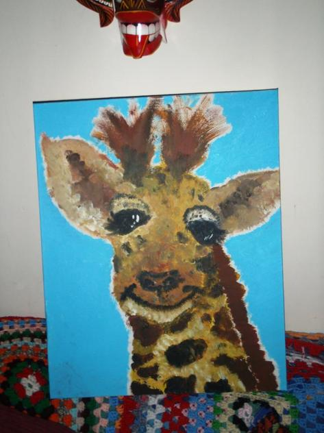 lucy's girraffe painting