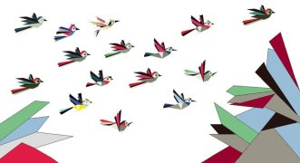 my paint birds flying