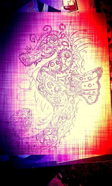 my seahorse drawing august 2013